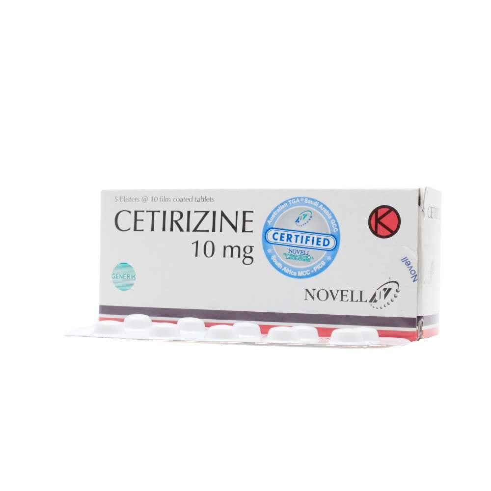 Cetirizine 10mg Tab Novell