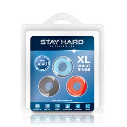 Vivo Stay Hard – XL Donut Rings 3'S